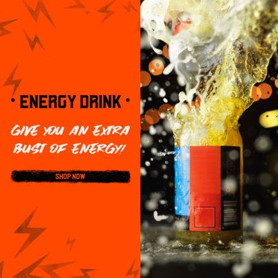 Ad Banner Template for an Energy Drink MLM Business Opportunity 2903b