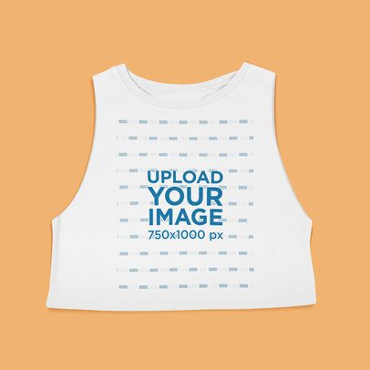 Mockup of a Crop Tank Top Laid Flat on a Surface 43338