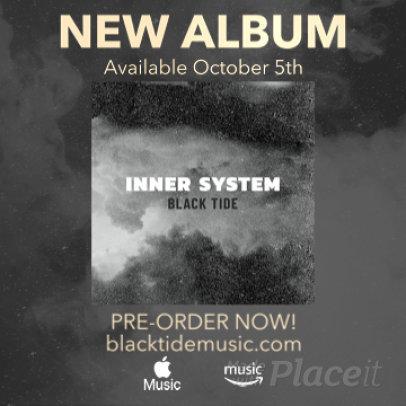 Instagram Video Maker for a Dark Ambient Album Announcement 2246