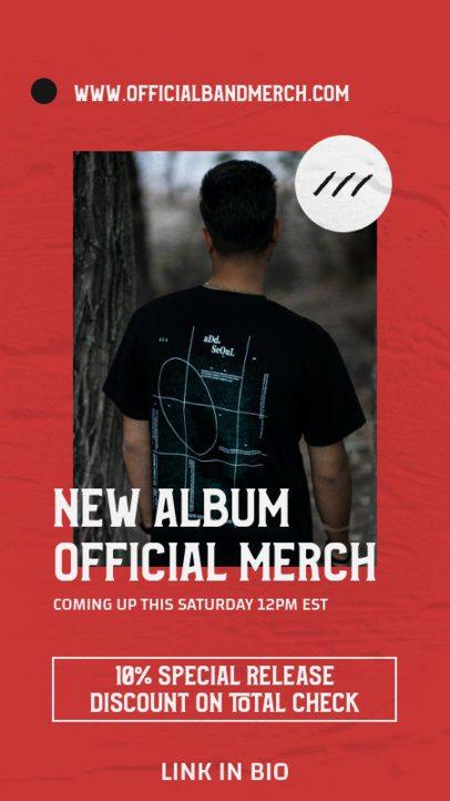 Instagram Story Generator for a Progressive Rock New Album's Merch Announcement 2876e-el1