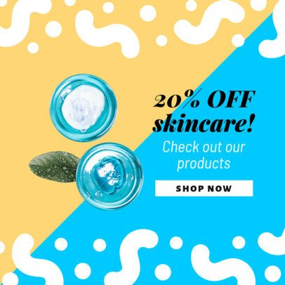 Dropshipping Ad Banner Generator for a Skin Care Products Offer Announcement 2938h