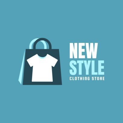 Free Logo Generator for Apparel Brands Featuring a Shopping Bag Graphic 3695a