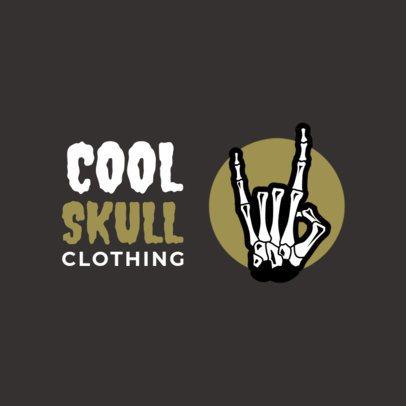 Free Streetwear Logo Maker Featuring a Skeleton Hand Illustration 3695c