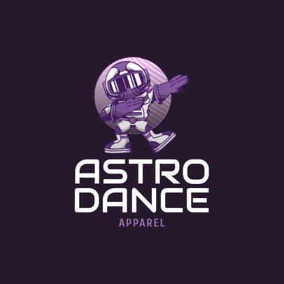 Free Streetwear Logo Generator Featuring a Dancing Astronaut Illustration 3695j