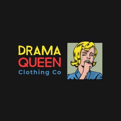 Free Fashion Brand Logo Generator Featuring a Retro Woman Clipart 3695p