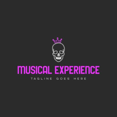 Logo Generator for a Rap Music Channel Featuring a Skull Graphic 3694k