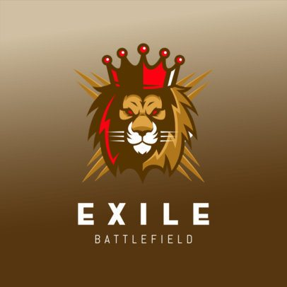 Logo Template Featuring a Crowned Lion King 3693f