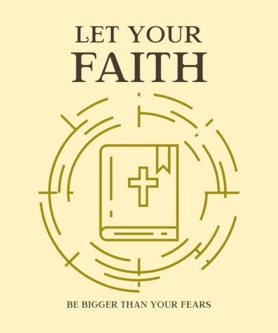 Religious T-Shirt Design Maker with a Faithful Quote 2963e