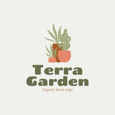Free Logo Maker Featuring an Illustration of Plant Pots 3696t