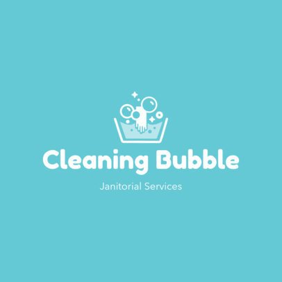 Logo Template for a Cleaning Services Company Featuring a Minimal Layout 3696f
