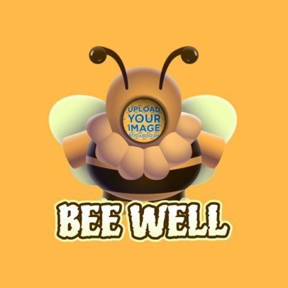 Twitch Emote Logo Maker of a Bee Based on Fall Guys 3690b