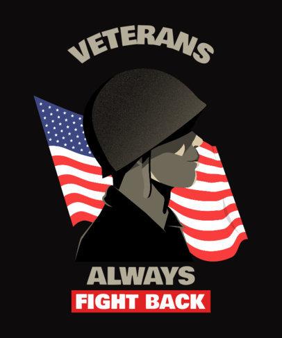 Patriotic T-Shirt Design Creator for Military Men and Women 2992