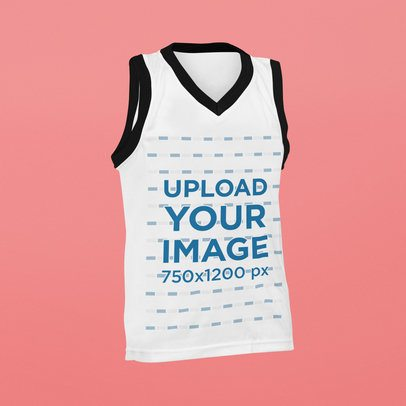 Ghosted Mockup of a Ringer Sleeveless Tee 42410-r-el2