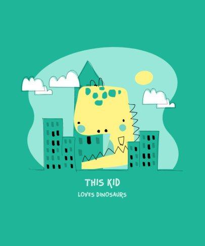 Children's T-Shirt Design Maker Featuring a Dinosaur 2967b-el1