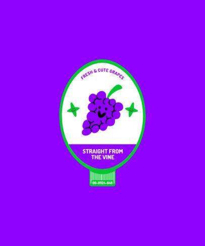 Fruity T-Shirt Design Maker Featuring Grapes 2956e-el1
