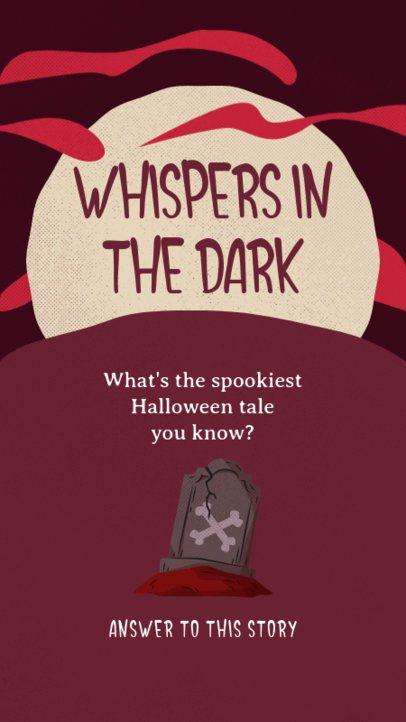 Spooky Instagram Story Design Maker for Halloween Tales 2953d-el1