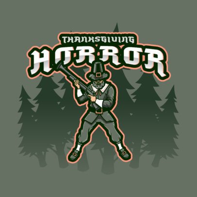 Thanksgiving-Themed Gaming Logo Creator Featuring a Shooter 3711h