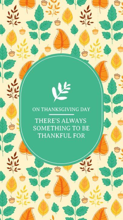 Fall-Themed Instagram Story Maker for Thanksgiving 2949e-el1