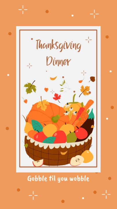 Thanksgiving-Themed Instagram Story Design Creator Featuring a Food Basket 2948d-el1