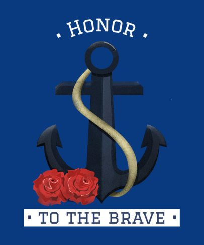 Patriotic T-Shirt Design Maker to Honor Navy Forces 2992f