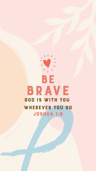 Instagram Story Design Maker with a Faith-Filled Quote 2986c