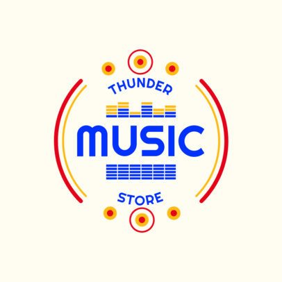 Logo Maker for a Music Store Featuring Sound Graphics 3697i