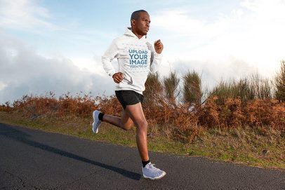 Hoodie Mockup of a Man Running Outdoors 43728-r-el2