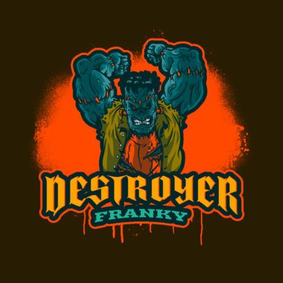 Online Logo Maker for Halloween Featuring a Mad Frankenstein 3711n