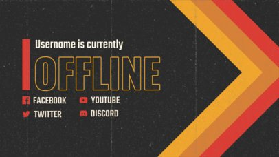 Twitch Banner Design Template with Retro VHS Aesthetics 3019