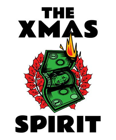 T-Shirt Design Maker with Anti-Christmas Illustrations 3013