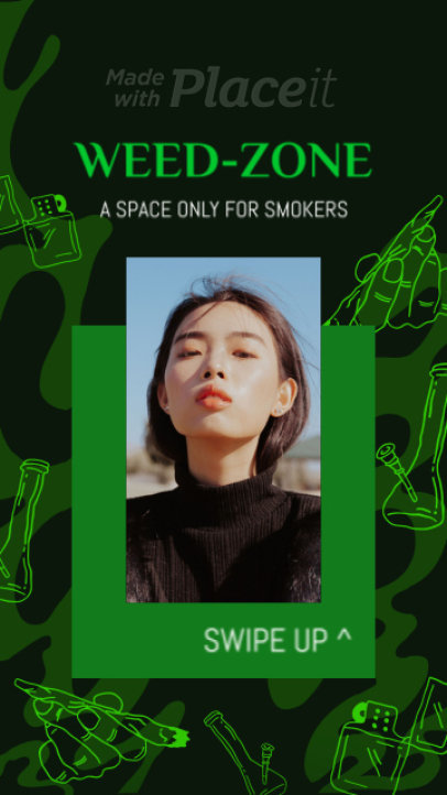 Cannabis-Themed Instagram Story Video Maker with a Cool Layout 2278