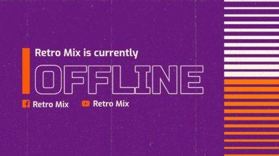 Twitch Offline Banner Maker for a Retro DJ Streamer 3019f