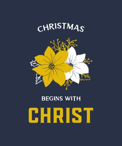 Christmas-Themed T-Shirt Design Maker With Religious Illustrations 3014