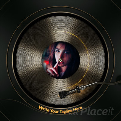 Instagram Post Maker with an Animated Spinning Record 2334-el1