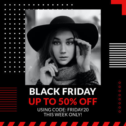 Instagram Post Template for a Black Friday Fashion Sale 3030