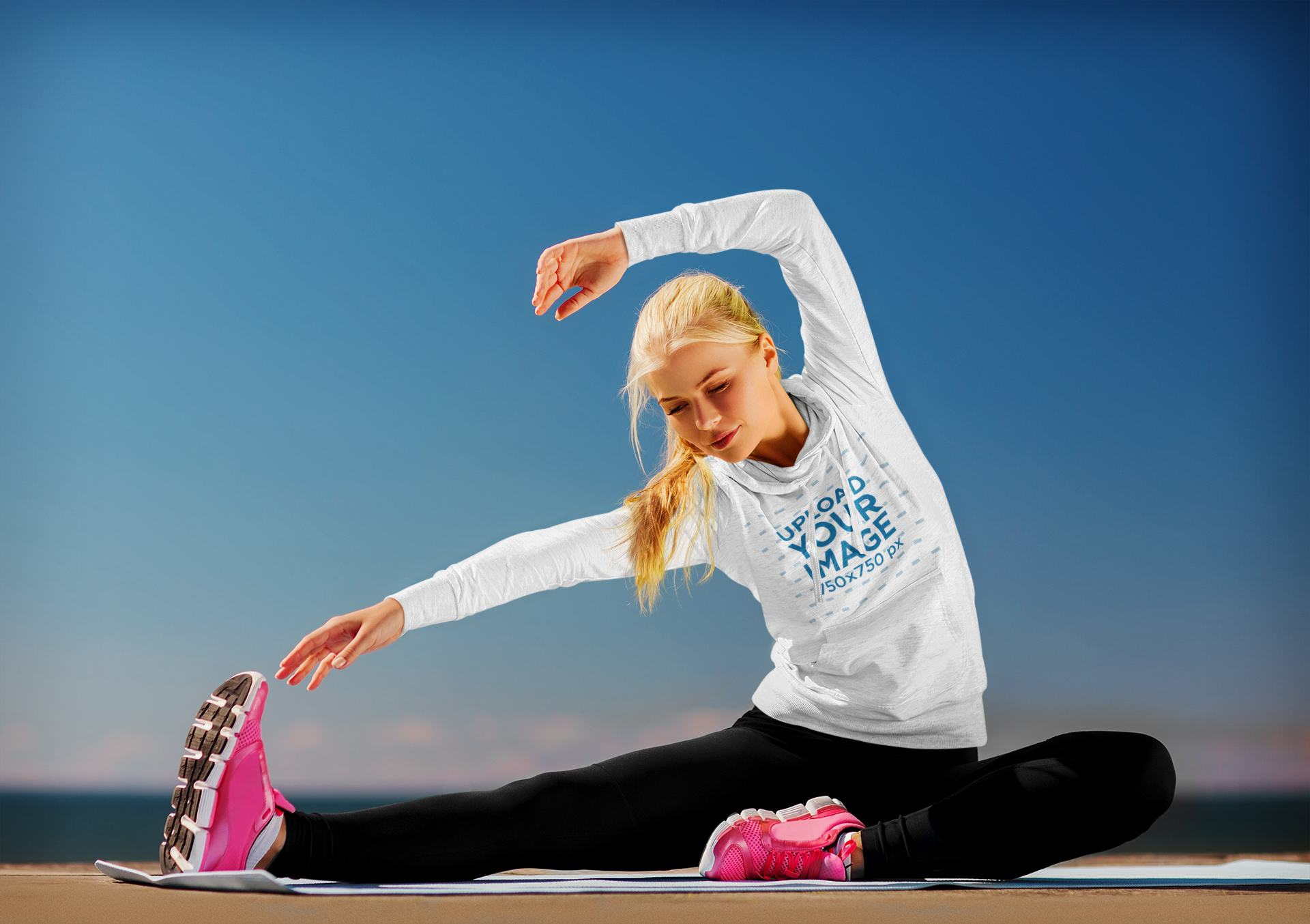 Hoodie Mockup Featuring a Woman Stretching Her Body 40932-r-el2