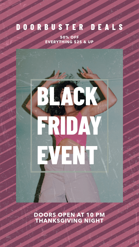 Instagram Story Creator for a Black Friday Event Announcement 3028i