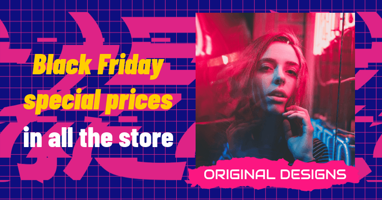 Facebook Post Design Generator for a Black Friday Fashion Sale Featuring an Abstract Background 3032h