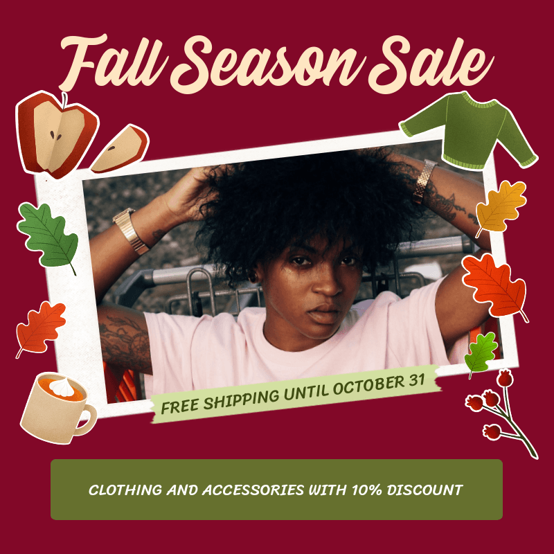 Instagram Post Generator for a Clothing Brand's Fall Season Sale 3040a