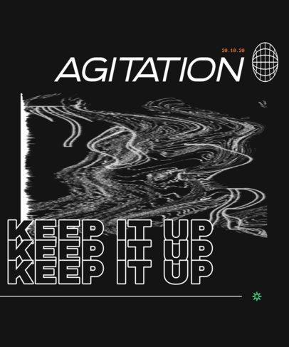 T-Shirt Design Template for Alternative Music Artists 3077