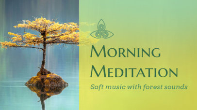 YouTube Thumbnail Creator for a Soft Meditation Music Playlist 3064f