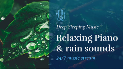 YouTube Thumbnail Maker for a Piano Playlist with Rain Sounds 3064h