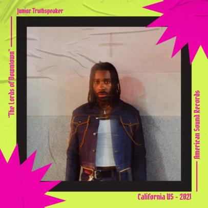 Album Cover Design Template for an Alt-Rap Mixtape 3086-el1