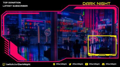 Futuristic Twitch Overlay Creator for a Cyberpunk 2077-Inspired Streamer 3058a