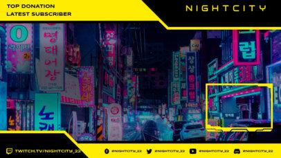 Futuristic Twitch Overlay Creator with a Background of a Futuristic City 3058g