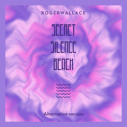Tie Dye-Style Album Cover Creator for a Pop Singer's New Single 3075e