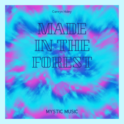 Album Cover Creator for a Mystic Music Compilation with a Tie-Dye Background 3075f