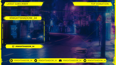Twitch Overlay Creator for a Gaming Channel Featuring Cyberpunk 2077-Style Graphics 3059a