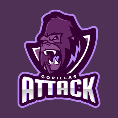 Sports Logo Maker with a Frightening Gorilla Graphic 1560j-2862