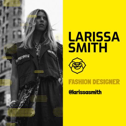 Instagram Post Maker for a Fashion Designer's Creative Resume 3068c